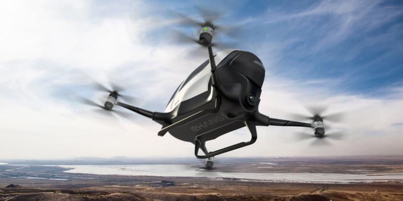 Ehang drona autonoma transport pasageri dubai