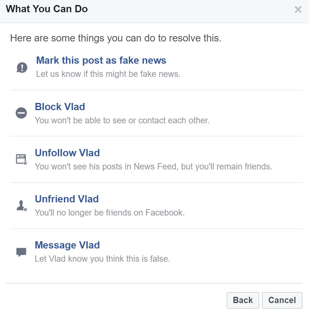 fake news report facebook