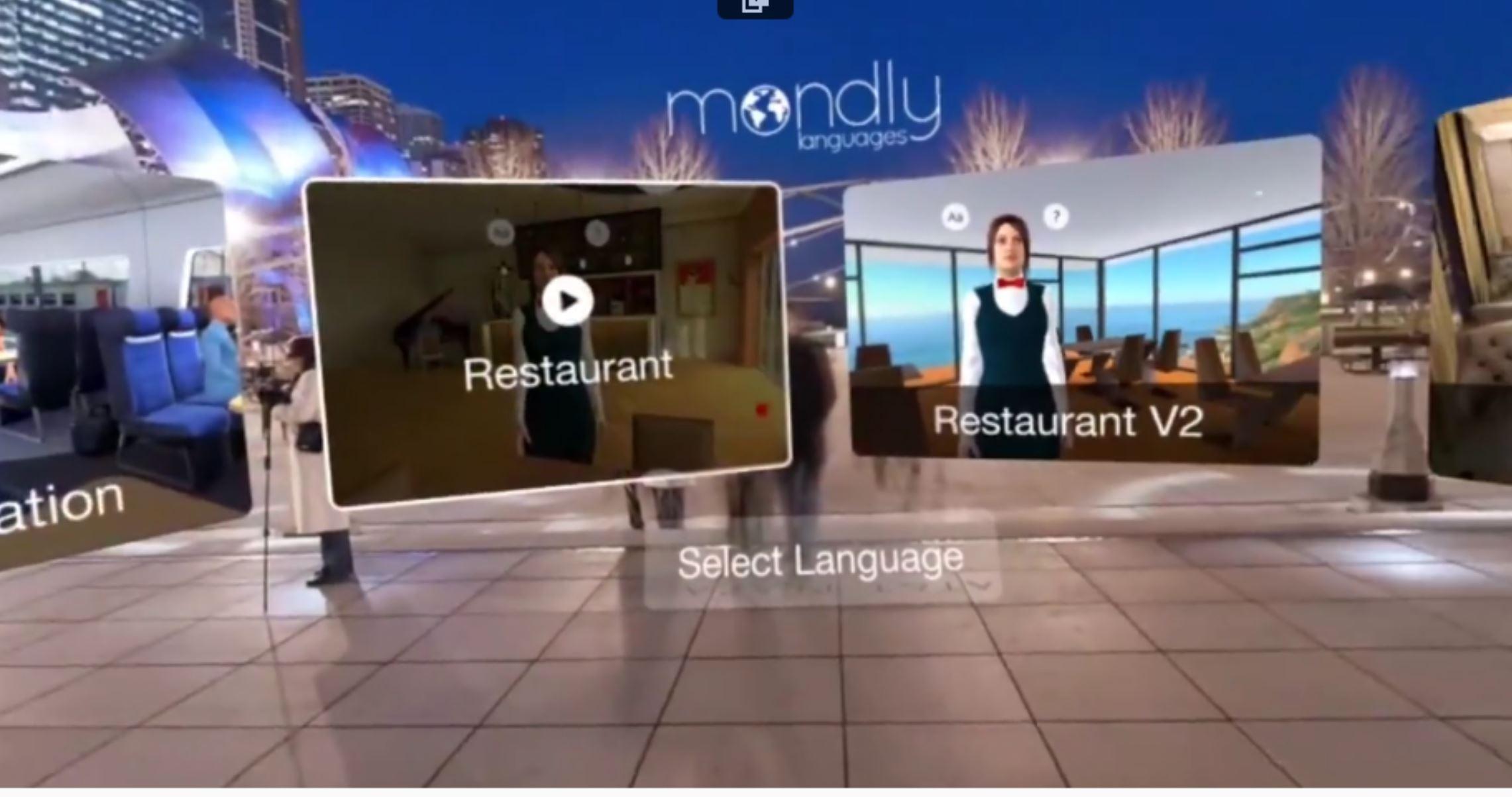 Mondly VR limba straina
