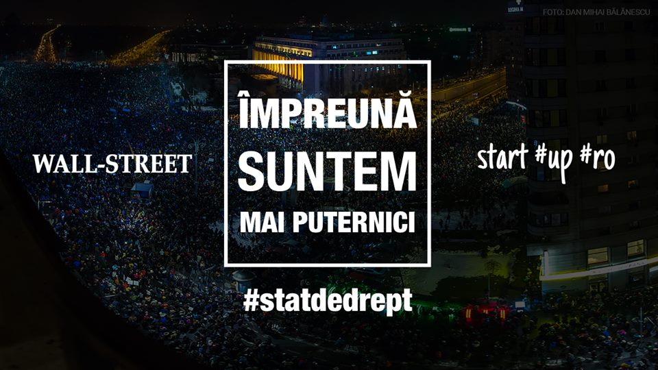 protest romania stat de drept start-up wall street guvern