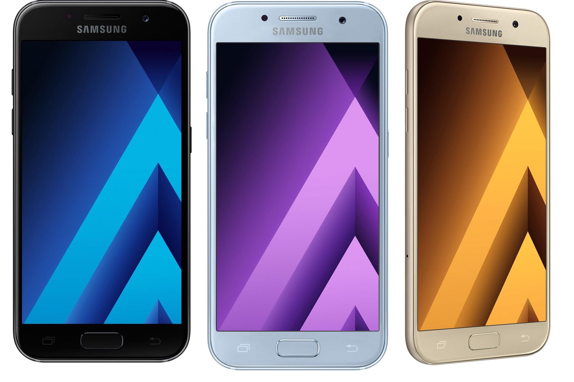 samsng galaxy a5 galaxy a3 2017 gadget smartphone