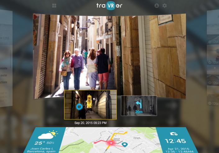 traVRer samsung app aplicatie mwc 2017